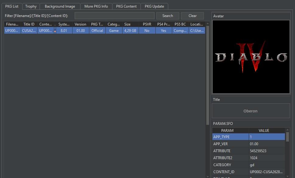 Diablo IV PlayStation Network datamining
